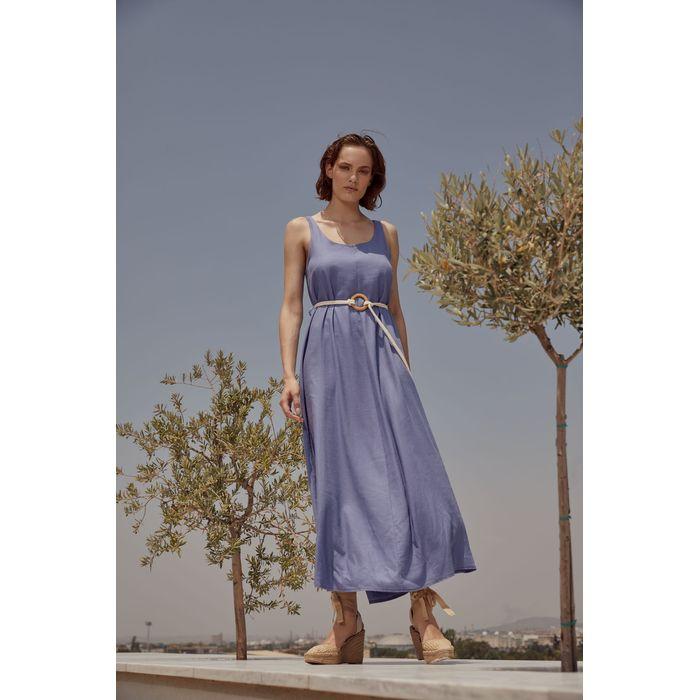 Φόρεμα με ζώνη απο σχοινί