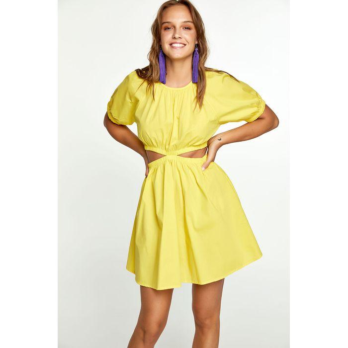 Βαμβακερό φόρεμα με ανοίγματα