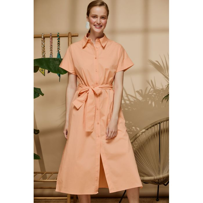 Φόρεμα chemisier με ζώνη