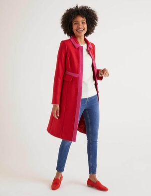 Mitford Coat Red Women Boden, Navy