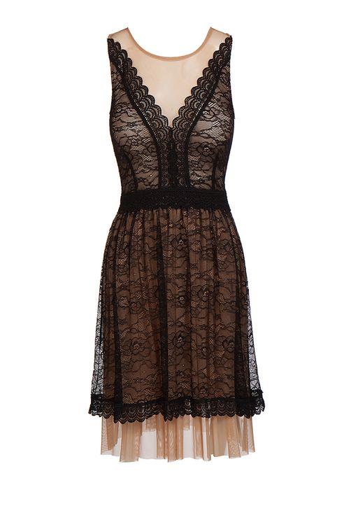 Lynne Vol.2 - Γυναικείο μαύρο Αμάνικο Φόρεμα LYNNE