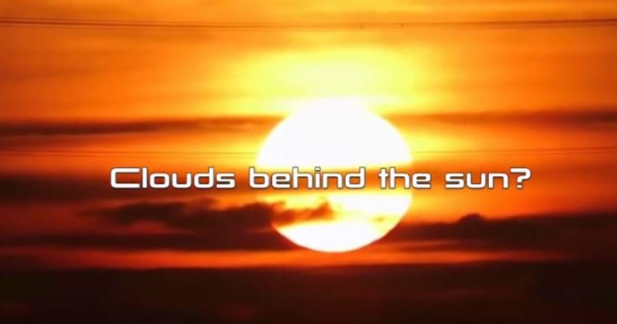 Ces nuages derrière le soleil