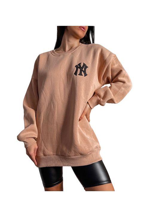 Φούτερ μπλούζα ''NY'' (Μπεζ)