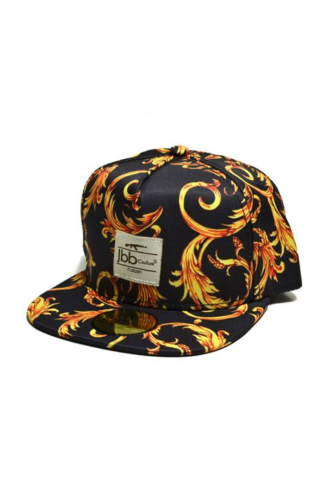 Καπέλο μαύρο κίτρινο JBB Couture