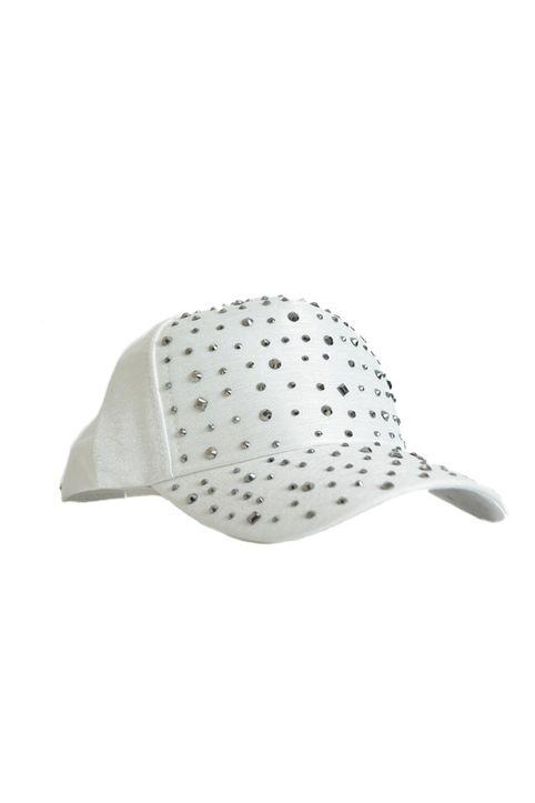 Καπέλο λευκό με λεπτομέρεια στρας