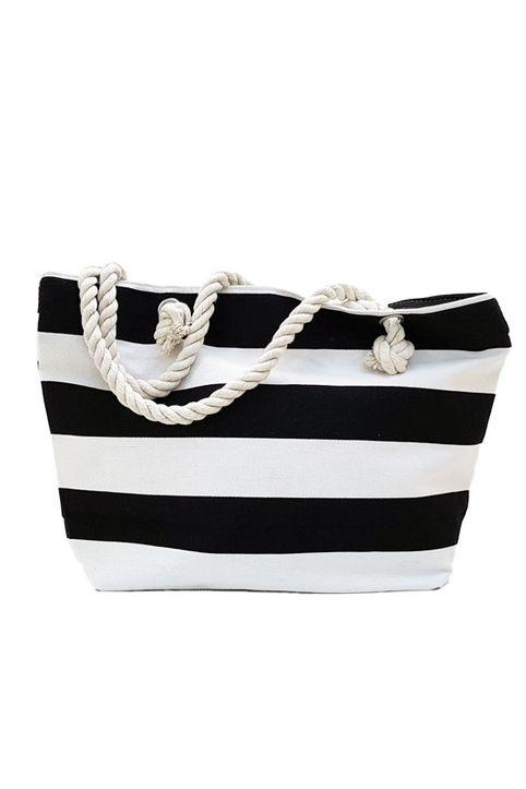 Ριγέ τσάντα θαλάσσης