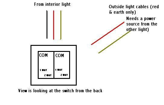 outside light wiring diagram uk how do i wire these 2 lights  help  diynot forums  how do i wire these 2 lights  help
