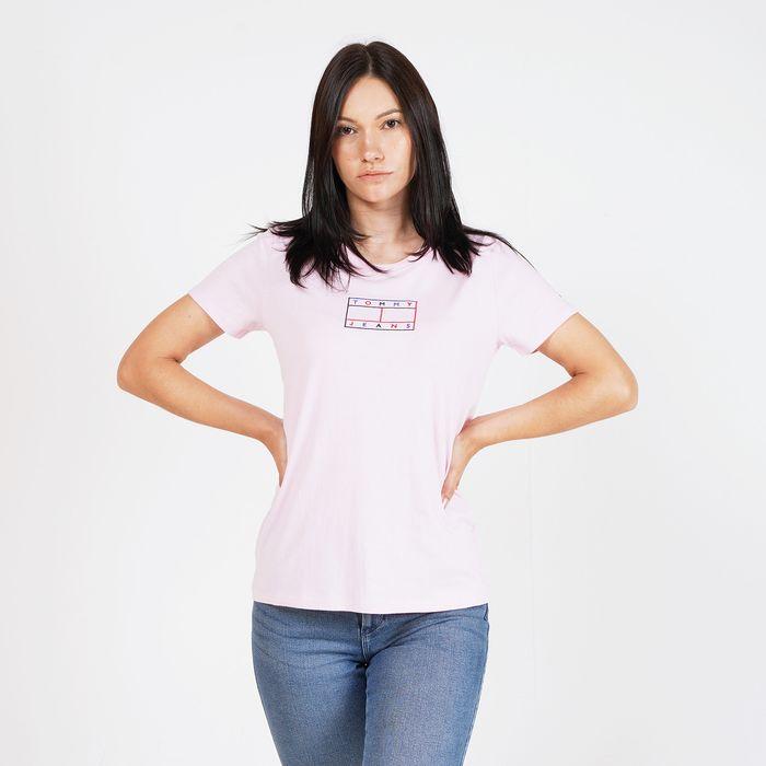 Tommy Jeans Outline Flag Γυναικείο T-Shirt (9000065160_41760)