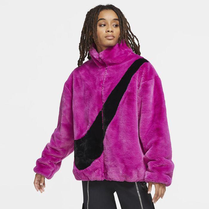 Nike Sportswear Faux Fur Γυναικείο Μπουφάν (9000056483_46856)