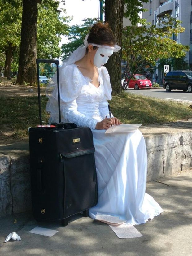 Who is the masked bride? Mystery woman seen leaving notes around Toronto