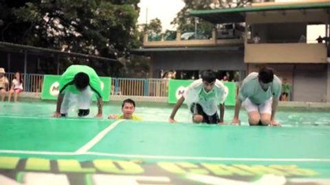 馬來西亞水上羽毛球!?