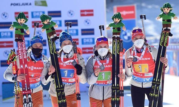 Preuß führt deutsche Biathletinnen zu WM-Silber in Staffel