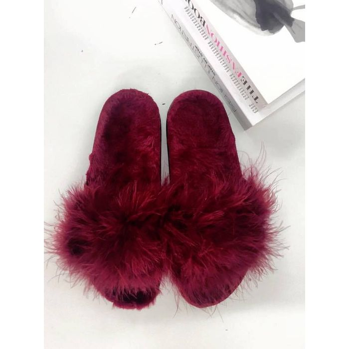 MISSANDEI WINE FUR SLIPPERS