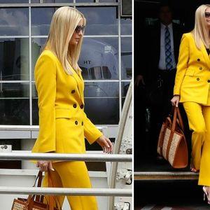 Иванка Трамп во жолт костум од Zara од 120 евра за ...