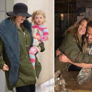 Блејк Лајви со слатките ќерки на аеродром по ...