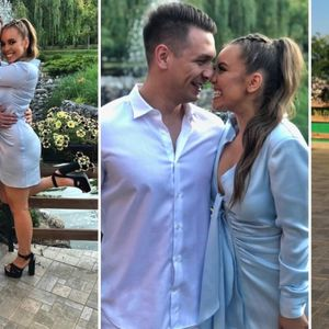 Антониа Гиговска во син фустан покрај новото момче ...