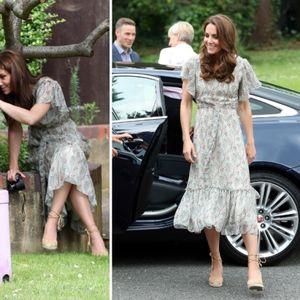 Војвотката Кетрин во летен фустан и еспадрили на ...