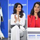 Амал Клуни елегантна во две монохроматски деловни ...