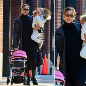 Ирина Шајк со слатката ќерка Леа на прошетка во ...
