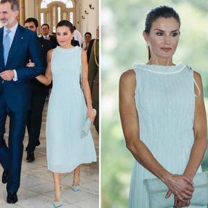 Пастелна елеганција: Кралицата Летиција во ...