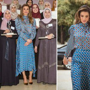 Кралицата Ранија модерна во комплет од Zara со ...