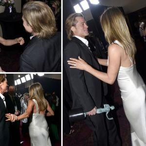 Моментот помеѓу Џенифер Анистон и Бред Пит на SAG Awards ...