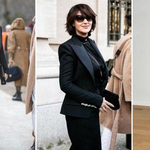 Шик дама: Моника Белучи во црн костум на ревија во ...