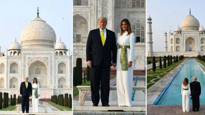 Меланија Трамп во бел комбинезон за посетата на Таџ ...