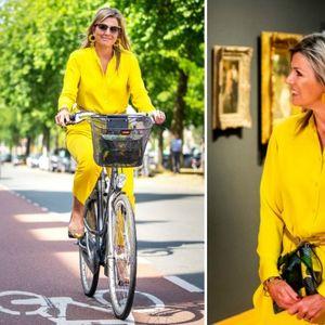 Кралицата Максима модерна во жолт стајлинг на ...