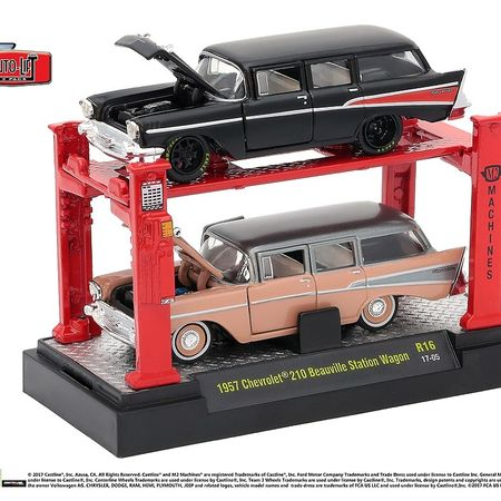 M2 Lifts - 2 Car Set. - 1957 Chevrolet 210 Beauville Station Wagon
