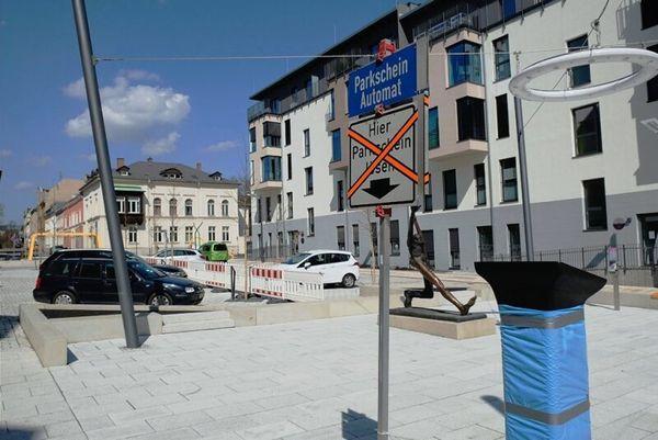 Nur für kurze Zeit: Freies Parken auf Reichenbacher Solbrigplatz   Freie Presse - Reichenbach