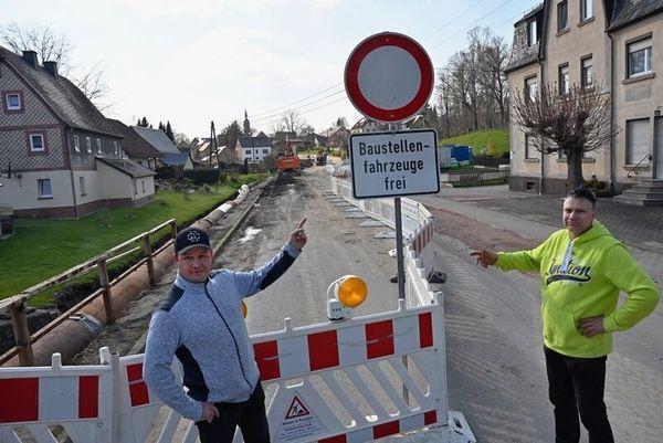 Ortsdurchfahrt in Lichtenau monatelang gesperrt: Anwohner verärgert | Freie Presse - Chemnitz