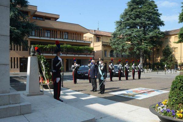 Alla caserma Masotti di Brescia si è celebrata la festa dell'arma dei carabinieri