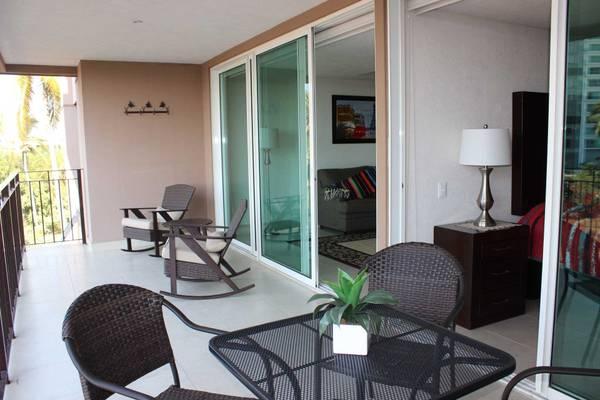 Neat and spacious balcony area
