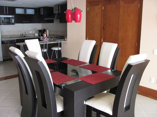Beautiful table set for 6 guests for breakfast, lunch, dinner, or games