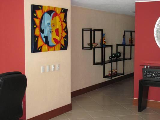 Artsy decor featured around the condominium