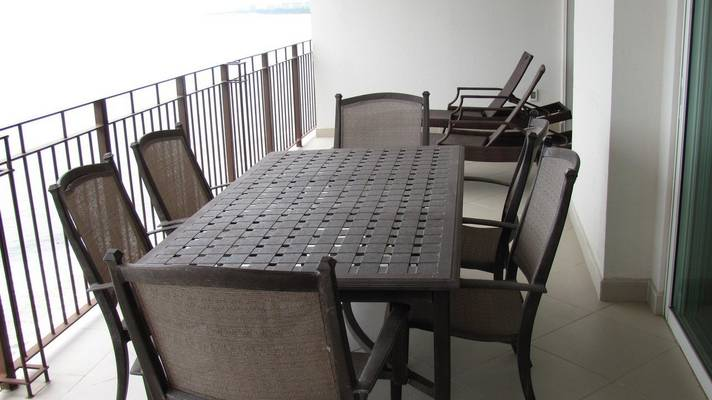 Outside furniture for you to enjoy a fantastic dinner while you watch the beautiful sunset