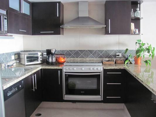 Kitchen: stove top, oven, and appliances