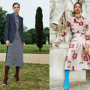 Čizme u azurno plavoj i elegantna odela -  kolekcija Victoria Beckham Resort 2020