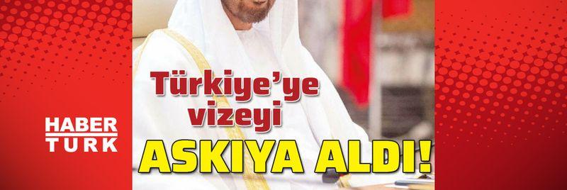 Türkiye'ye vizeyi askıya aldı!