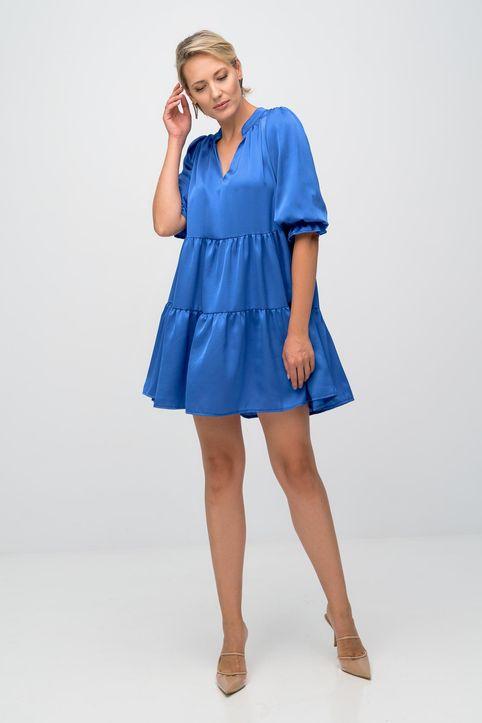 Φόρεμα mini με μανίκια-5057