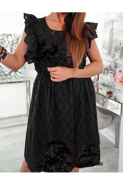 Φόρεμα αμάνικο με βολάν-7896