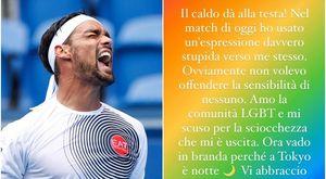 Fognini urla «sono un fr...» e l'auto-insulto omofobo alle Olimpiadi diventa virale. Poi le scuse: amo la comunità Lgbt