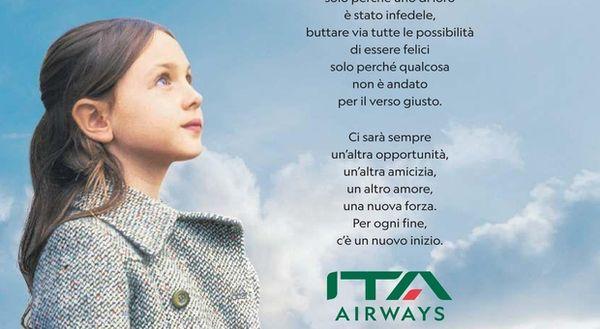 Alitalia addio, Ita Airways scrive un messaggio ai viaggiatori: «Per ogni fine, c'e un nuovo inizio» thumbnail