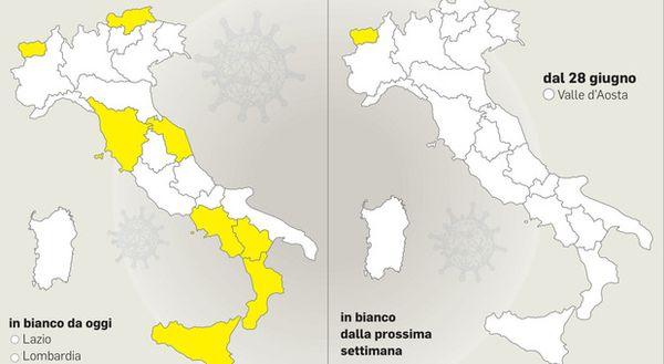 Zona bianca da oggi per 13 regioni: «Ma si richiude in caso di variante»