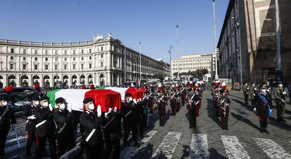 Attanasio e Iacovacci, i funerali di Stato a Roma nella Basilica di S.Maria degli Angeli (foto Andrea Giannetti/Ag.Toiati)
