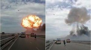 Foggia, esplode un'autocisterna che trasportava Gpl: le immagini spaventose