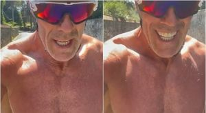 Cipollini in bici sotto il sole: «38 gradi: se non si soffre, non ci si diverte»