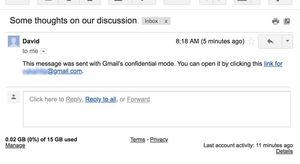 Gmail, in arrivo le email che si autodistruggeranno