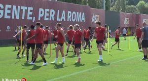La Roma si allena alla vigilia del Trabzonspor